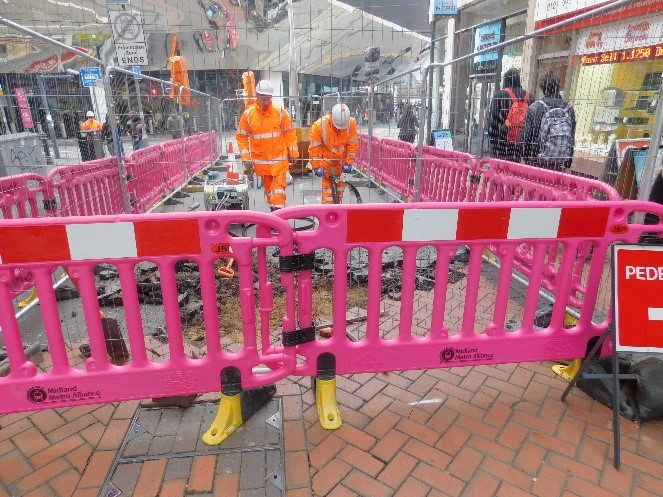 Midland Metro Alliance begins public realm work in Birmingham City Centre